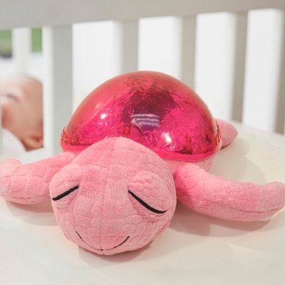 Tranquil Turtle magic LED night light - pink - by cloud b