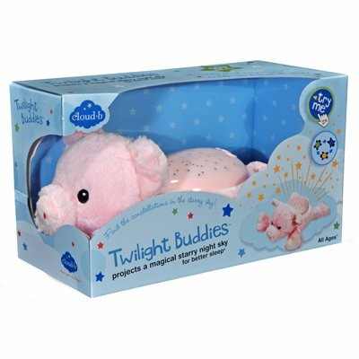 Twilight Buddies magic LED night light - Pig - by cloud b
